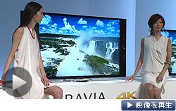 ソニーはフルハイビジョンの4倍の解像度をもつ「4K」テレビに55型、65型を追加すると発表した