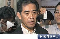 自民党の逢沢一郎国会対策委員長は70日の会期延長に反対する考えを示した(22日午前、国会内)