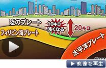 震源となる岩板の境界面が想定より約10キロメートル浅いと分かった(テレビ東京)