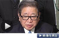 消費増税法案に「国民新党副代表の立場でサインした」と説明する自見庄三郎金融・郵政担当相