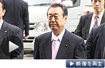 判決公判のため東京地裁に入る民主党の小沢元代表(26日午前)