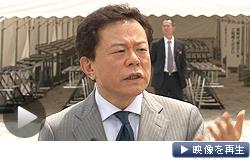 東京電力の株主総会について報道陣の質問に答える東京都の猪瀬直樹副知事(27日)
