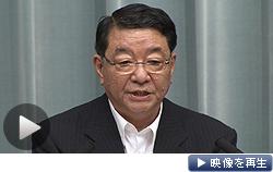 藤村官房長官は記者会見を開き、韓国の李明博大統領の発言について公式に反論した