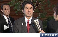 安倍首相は訪米を前に日米首脳会談への意気込みを語った(21日、首相官邸)