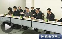 厚生労働省で14日開いた労働政策審議会(テレビ東京)