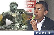 オバマ米大統領が鎌倉を訪問。大仏を見学し、抹茶アイスに舌鼓を打った