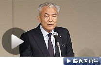 記者会見する増田宗昭社長(3日午後、東京都千代田区)