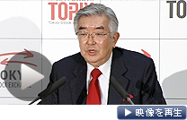 東証の斉藤社長はMBOで上場廃止する企業の増加に不快感を示した(22日)
