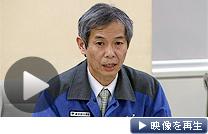 金町浄水場の水道水から、基準を上回る放射性ヨウ素が検出されたと発表する東京都水道局の担当者(23日)