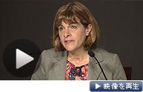 福島第1原発の汚染水処理について会見する仏アレバのロベルジョンCEO(19日)