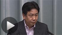 松本復興相の辞任について語る枝野幸男官房長官(5日)