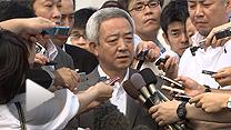 松本氏は被災地復興をめぐる発言について辞任を否定(4日午後)