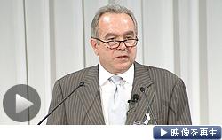 日経・CSIS共催シンポジウムで基調講演したキャンベル米国務次官補(26日)