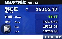 日経平均4日続落、終値86円安の1万5216円。10日のマーケットの動きを解説(日経CNBC)